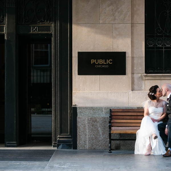 Colleen + Michael - Intimate Rooftop Wedding - Public Hotel
